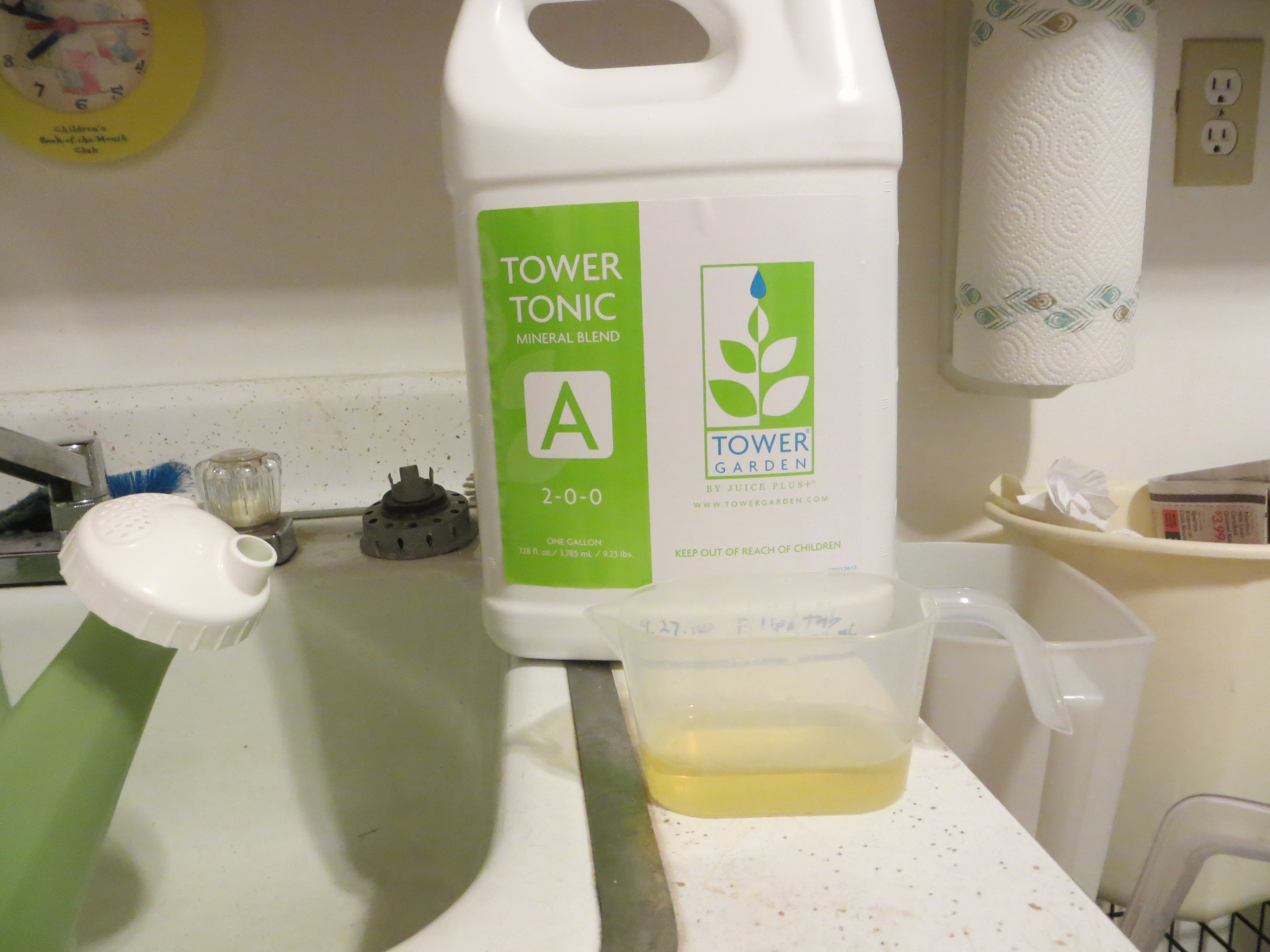 Use The Ph Test Kit To Of Water In Green Tub Put 5 Ml From Tower Garden Into Vile
